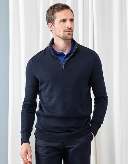 Men`s Quarter Zip Jumper - Pullover & Strickwaren - Pullover - Henbury Black