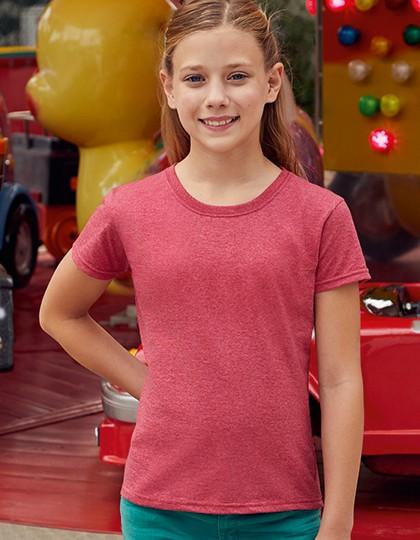 Girls Valueweight T - Kinderbekleidung - Kinder T-Shirts - Fruit of the Loom Azure Blue