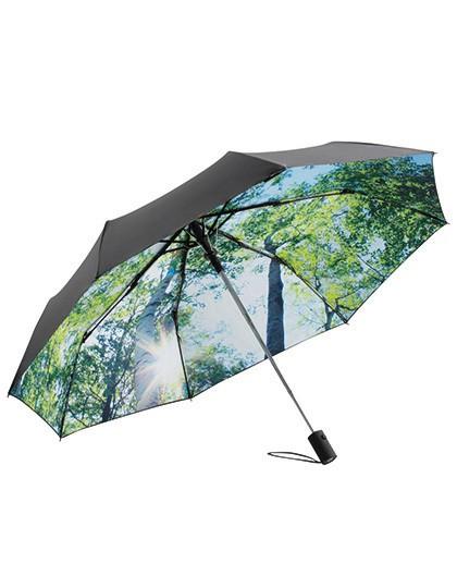 AC-Mini-Taschenschirm FARE®-Nature - FARE Black - Wood