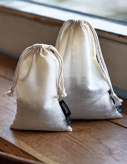 Cotton Bag with Drawstrings (5 Pieces) - Neutral Nature