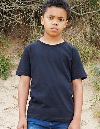 Kids` Super Soft T - Kinderbekleidung - Kinder T-Shirts - Mantis Kids Black - Heather Grey Melange