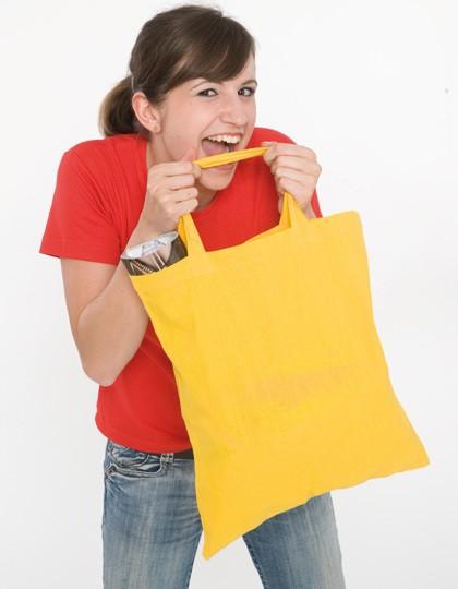 Baumwolltasche, kurze Henkel - Baumwoll- & PP-Taschen - Baumwolltaschen - Printwear Black
