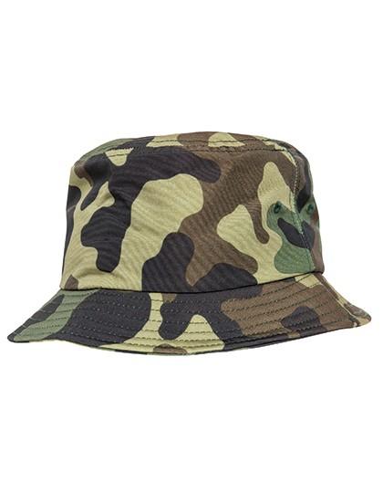 Camo Bucket Hat - FLEXFIT Green Camo