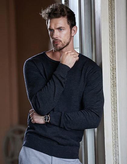 Men`s Crew Neck Sweater - Pullover & Strickwaren - Pullover - Tee Jays Black
