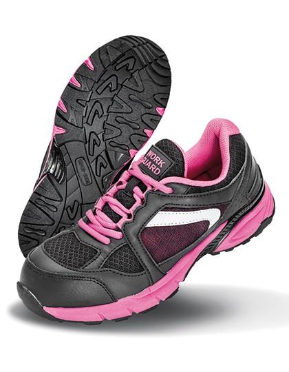 Ladies` Safety Trainer - Workwear - Schuhe - WORK-GUARD Pink - Black