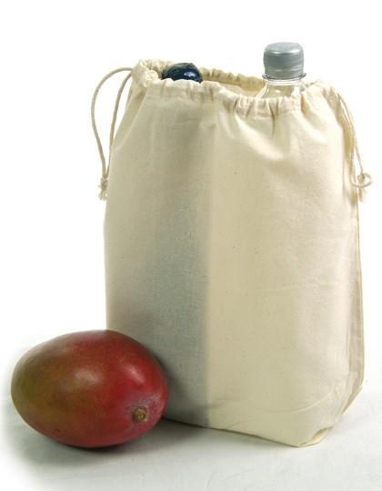 Zuziehbeutel mit Mittelsteg-Schuhbeutel - Baumwoll- & PP-Taschen - Baumwolltaschen - Printwear Natural