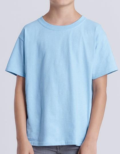 Heavy Cotton™ Youth T- Shirt - Kinderbekleidung - Kinder T-Shirts - Gildan Ash Grey (Heather)