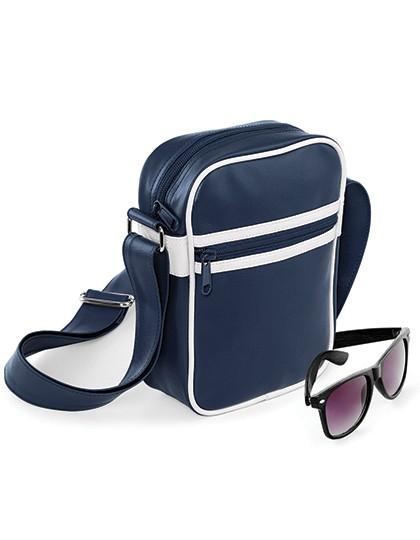 Original Retro Cross Body Bag - Freizeittaschen - Freizeit-Umhängetaschen - BagBase Black - White