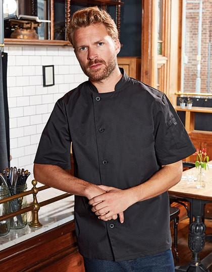 Essential Short Sleeve Chefs Jacket - Premier Workwear Black
