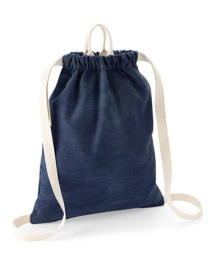 Denim Gymsac - BagBase Denim Blue