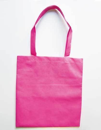 Vliestasche (PP-Tasche) lange Henkel - Printwear Black