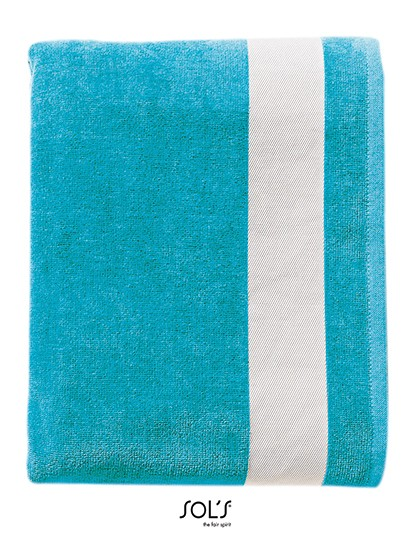 Beach Towel Lagoon - Frottierwaren - Handtücher - SOL´S French Navy - White