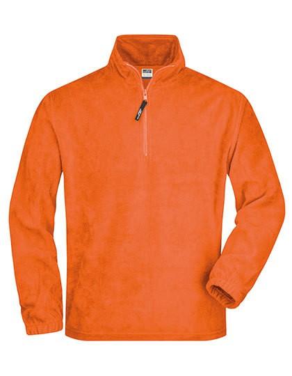 Half-Zip Fleece - Fleece - Half Zip Fleece - James+Nicholson Black
