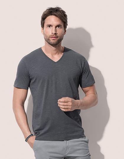 Shawn Slub V-Neck - Basic T-Shirts - V-Neck - Stedman® Bahama Green