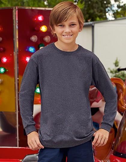 Kids Valueweight Long Sleeve T - Kinderbekleidung - Kinder T-Shirts - Fruit of the Loom Black