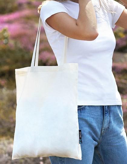 Shopping Bag with Long Handles - Baumwoll- & PP-Taschen - Fairtrade Baumwolltaschen - Neutral Black