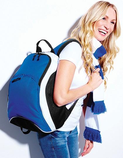 Teamwear Backpack - Rucksäcke - Freizeit-Rucksäcke - BagBase Black - Classic Red - White