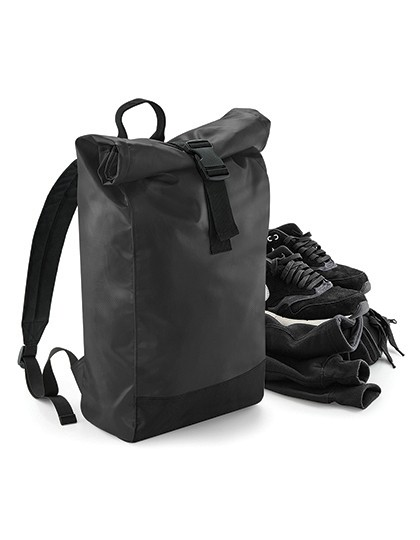 Tarp Roll-Top Backpack - Rucksäcke - Freizeit-Rucksäcke - BagBase Black