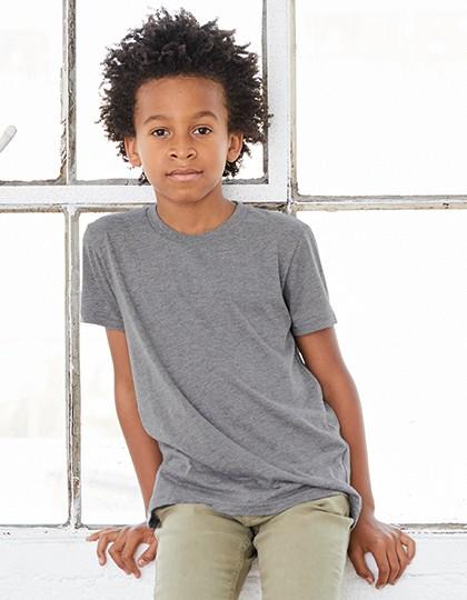 Youth Triblend Jersey Short Sleeve Tee - Kinderbekleidung - Kinder T-Shirts - Canvas Blue Triblend (Heather)