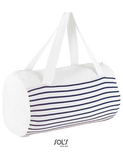 Striped Jersey Duffel Bag Sunset - Freizeittaschen - Sport- & Reisetaschen - SOL´S Bags White - Navy