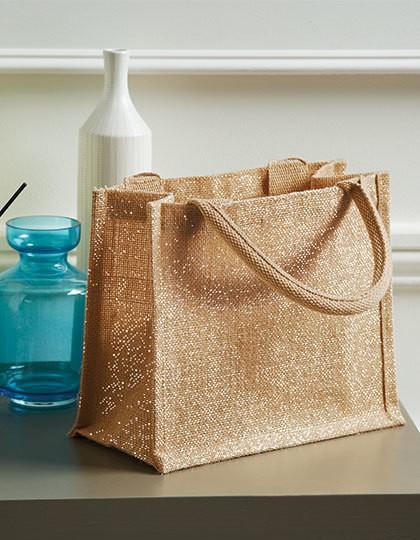 Shimmer Jute Mini Gift Bag - Baumwoll- & PP-Taschen - Jute-Taschen - Westford Mill Natural Gold