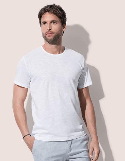 Shawn Slub Crew Neck - Basic T-Shirts - Rundhals - Stedman® Bahama Green