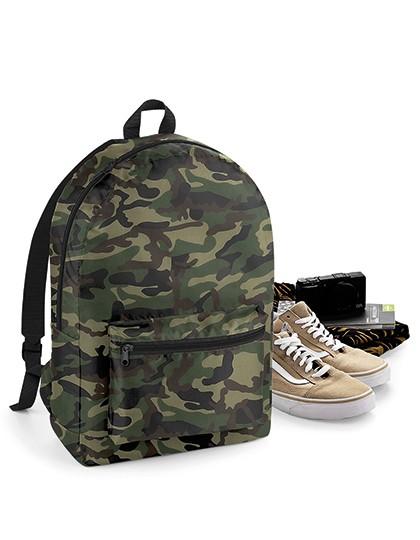 Packaway Backpack - Rucksäcke - Freizeit-Rucksäcke - BagBase Black - Black