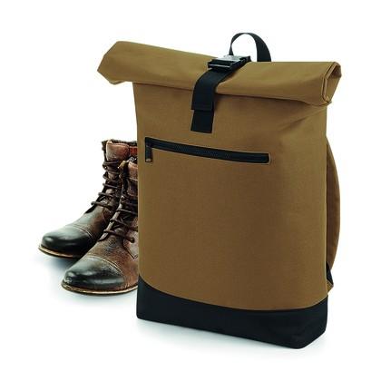 Roll-Top Backpack - Rucksäcke - Laptop-Rucksäcke - BagBase Black