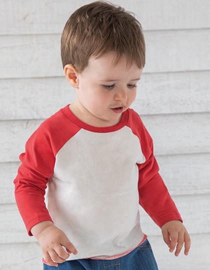 Baby Superstar Baseball T - Kinderbekleidung - Baby Shirts & Hosen - Babybugz Washed White - Swiss Navy