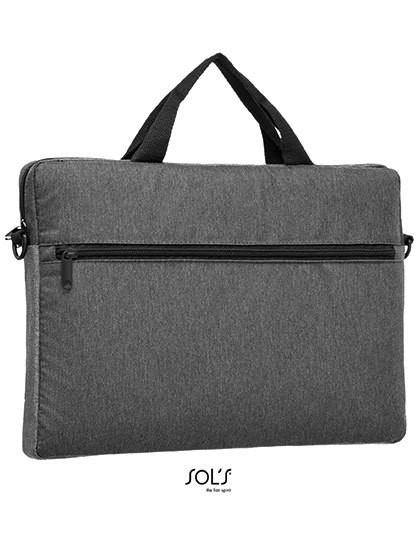 Dual Material Briefcase Porter - Businesstaschen - Dokumententaschen - SOL´S Bags Charcoal Melange