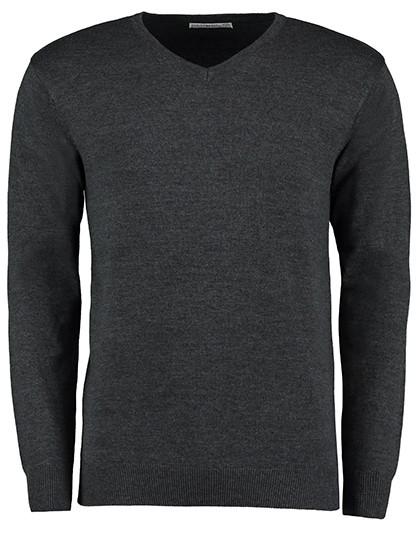 Classic Fit Arundel V-Neck Sweater - Pullover & Strickwaren - Pullover - Kustom Kit Black
