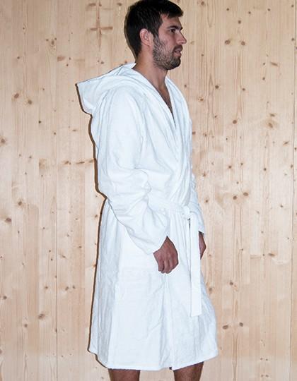 Quick-Dry Bathrobe Hooded - Men - Frottierwaren - Bademäntel - Bear Dream White