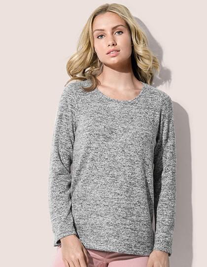 Knit Long Sleeve Sweater Women - Stedman® Dark Grey Melange
