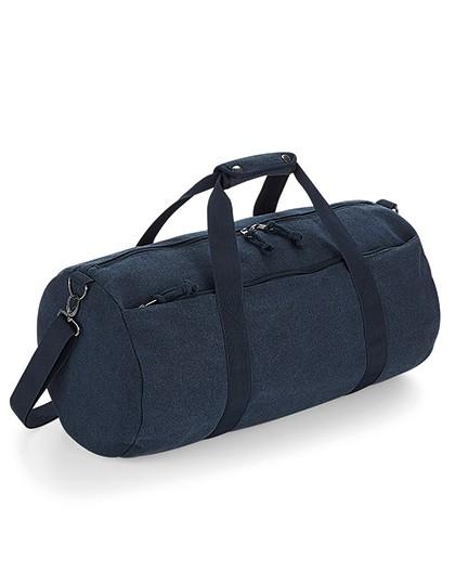 Vintage Canvas Barrel Bag - BagBase Vintage Black