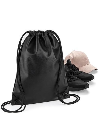 Faux Leather Gymsac - Rucksäcke - Freizeit-Rucksäcke - BagBase Black