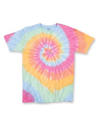 Multi Spiral Youth T-Shirt - Kinderbekleidung - Kinder T-Shirts - Dyenomite Aerial Multi-Spiral