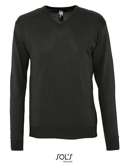 Men`s V Neck Sweater Galaxy - Pullover & Strickwaren - Pullover - SOL´S Black