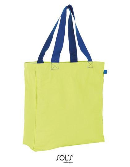 Lenox Shopping Bag - Baumwoll- & PP-Taschen - Baumwolltaschen - SOL´S Bags Black - Neon Lime
