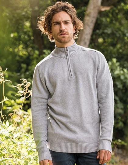Wakhan 1-4 Zip Regen Sweater - Pullover & Strickwaren - Pullover - Ecologie Black
