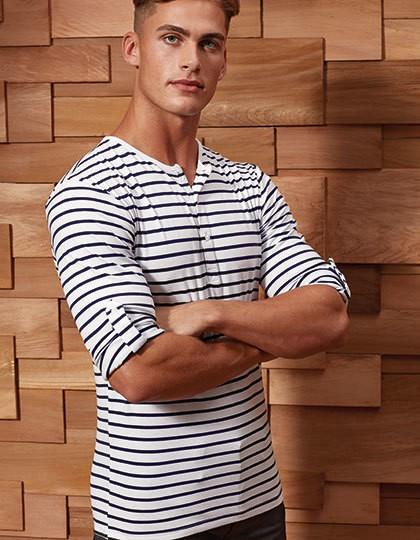 Mens Long-John Roll Sleeve Tee - Premier Workwear White