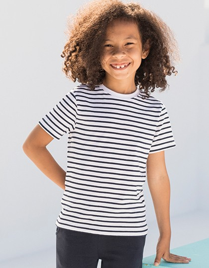 Kids` Striped T - SF Minni White - Oxford Navy