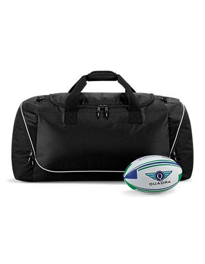 Teamwear Jumbo Kit Bag - Freizeittaschen - Sport- & Reisetaschen - Quadra Black - Light Grey