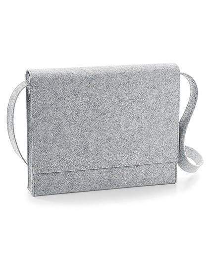 Felt Messenger - BagBase Charcoal Melange