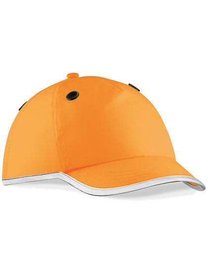 Enhanced-Viz EN812 Bump Cap - Caps - 5-Panel-Caps - Beechfield Fluorescent Orange