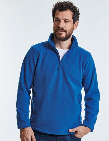 Quarter Zip Outdoor Fleece - Fleece - Half Zip Fleece - Russell Black