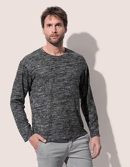 Knit Long Sleeve Sweater - Stedman® Dark Grey Melange