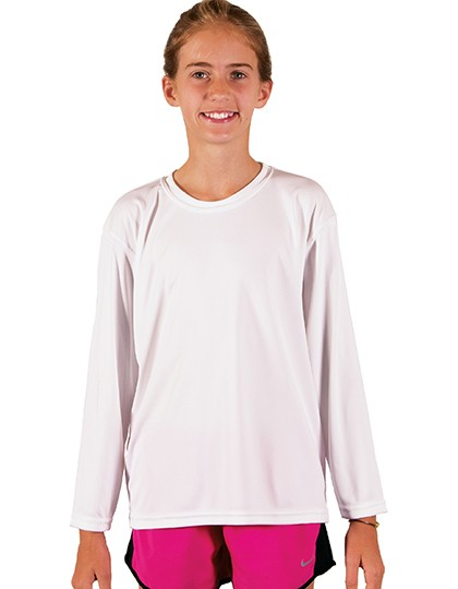Youth Solar Performance Long Sleeve T-Shirt - Sublimationstextilien - Sublimations Kinderartikel - Vapor Apparel Athletic Grey