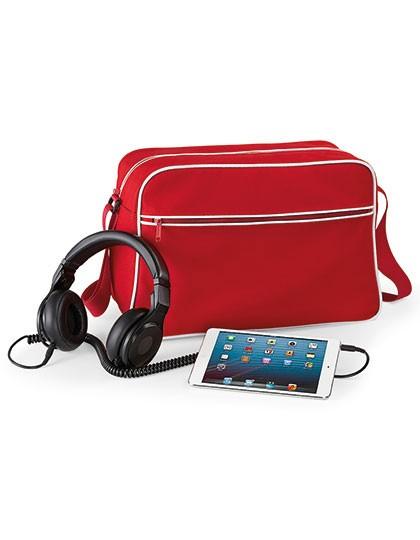 Retro Shoulder Bag - Freizeittaschen - Freizeit-Umhängetaschen - BagBase Black - Classic Red