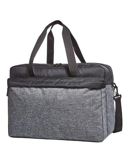 Sport-Travel Bag Elegance - Halfar Black - Grey-Sprinkle