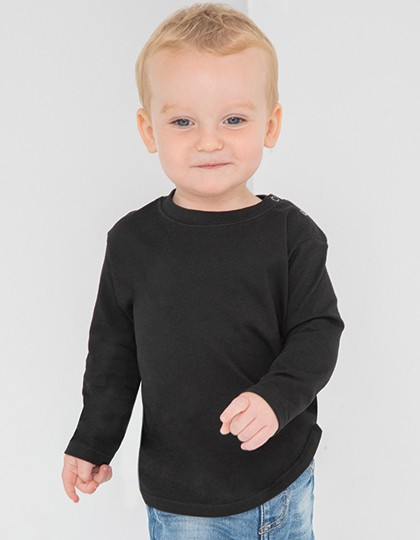 Long Sleeved T-Shirt - Kinderbekleidung - Baby Shirts & Hosen - Larkwood Fuchsia